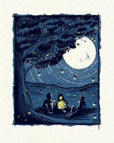 Summer Nights - Screenprinted Art Print