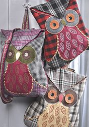 Tweed owl design backpack