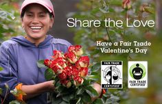 Fair Trade Certified V-Day Gift Guide, buy roses and chocolates that positively impact the lives of the workers, and don't support slave labor