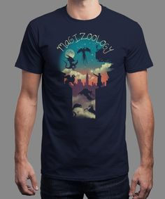 """""""Magical Beasts"""" is today's £8/€10/$12 tee for 24 hours only on www.Qwertee.com Pin this for a chance to win a FREE TEE this weekend. Follow us on pinterest.com/qwertee for a second! Thanks:)"""
