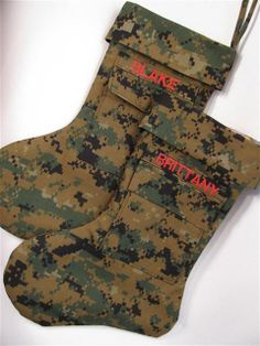 MILITARY CHRISTMAS STOCKINGS (kB Crafting Solutions) www.operationwearehere.com/deploymentproducts.html