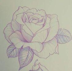 New Rose Snapshots Drawing Ideas, 36 Trendy Drawing Flowers Rose Tattoo . - New Pink Snapshots Drawing Ideas, # Ideas # Snapshots - Rose Drawing Tattoo, Tattoo Drawings, Tattoo Ink, Drawing Of A Rose, Rose Tattoo Stencil, Tattoo Flash, Tattoo Sketches, Pencil Art Drawings, Drawing Sketches