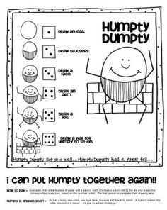 Humpty Dumpty Game and other activities                                                                                                                                                                                 More