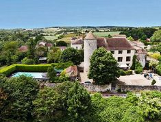 Dordogne château complete with golf course, 12 metre heated pool, independent gite, central-heating and bags of charm for sale Solar Heating Panels, Solar Panels, 9 Hole Golf Course, Beautiful Places To Live, Small Lake, French Property, Shared Bedrooms, Heated Pool, Double Bedroom