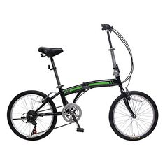 Adult Folding Bikes - unYOUsual U arc 20 Folding City Bike Bicycle 6 Speed Steel Frame Shimano Gear WANDA Tire Black >>> Click image to review more details.