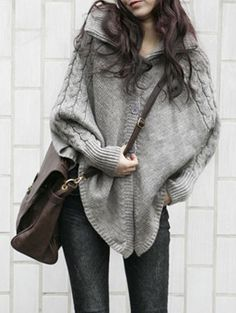 Batwing poncho sweater
