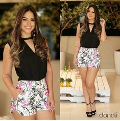 Outfits ideas & inspiration : Today you will learn the best designs of Short for lady ideas with molds and patterns, mold to make short woman, short for lady ideas with molds and Short Outfits, Cool Outfits, Summer Outfits, Short Dresses, Casual Outfits, Fashion Pants, Look Fashion, Fashion Outfits, Womens Fashion