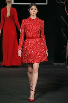 The 2nd Skin Fall - Winter 2014-2015 #fashion Dreamy red dress. I'm in love!
