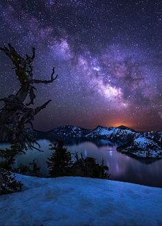 Milky Way over Crater Lake (Oregon) by Glen Murray