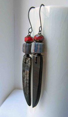 Sabre  handmade earrings spike earrings long by somethingtodo, £16.00