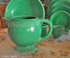vintage green fiestaware