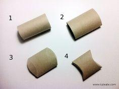 Cómo convertir un rollo de papel WC en una cajita de cartón para regalo