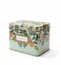 Citrus Floral Recipe Box & Cards I've been crushing on this for a while...