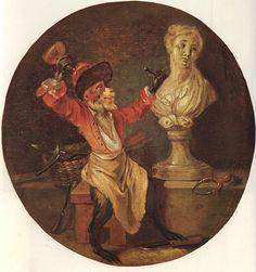 The Monkey Sculptor (Watteau)