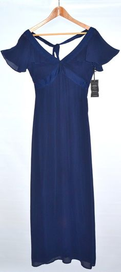 Full Length Midnight Blue Dress Size 8 #warehouse #usedclothes #dress
