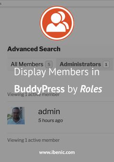 Learn how to filter the BuddyPress Members Directory to show users only by their roles. In this tutorial, you'll see how to show only Administrators. Learn Wordpress, Wordpress Plugins, Ecommerce, About Me Blog, Web Development, How To Start A Blog, Posts, Learning, Create