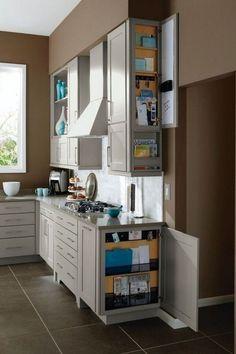 46 Smart Hidden Storage Ideas For Kitchen Decor kitchen #46 #smart #hidden #storage #ideas #for #kitchen #decor