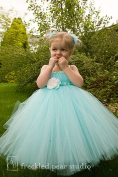 Aqua Tutu Dress - 24m thru 4T. $70.00, via Etsy. If thus ends up in my color scheme when I get married, I'm sticking my nieces in dresses like this!