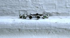 Great Vintage 14K White Gold Peridot Wedding Band. by GoldAdore, $295.00