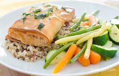 Thai Spiced Salmon Filo Parcel | Slimming Eats - Slimming World Recipes