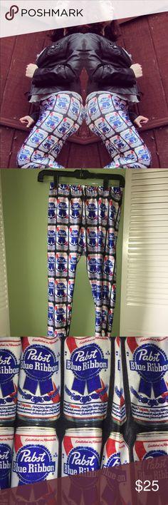 Poprageous leggings PBR leggings by Poprageous. Size medium. Put a little fun in your wardrobe 🍻 Worn only a handful of times, still good as new! Poprageous Pants Leggings