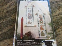 BUCILLA COUNTED CROSS STITCH, HOLIDAY ACCENT BANNERS #Bucilla #HOLIDAYACCENTBANNERS eBay item number:131571315823