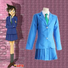 Find More Clothing Information about Mouri Ran cosplay costumes Japanese anime  Detective Conan clothing(coat+skirt+tie+shirt),High Quality tie and dye suits,China tie button Suppliers, Cheap shirt rose from anime costumes supermarket on Aliexpress.com