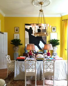 Chic New Orleans dining room in Southern Style Now Showhouse - William McLure