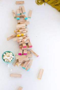 Pretty painted ombre Jenga game!