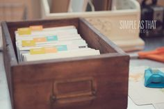 Getting organized with Project Life or other scrapbooking projects