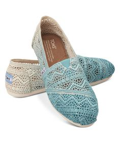 Look at this TOMS Baltic Dip-Dye Crochet Classics on #zulily today!