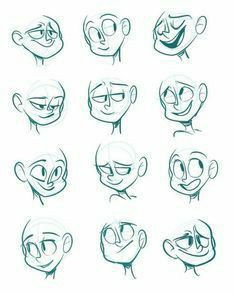 Drawing Face Expressions, Smile Drawing, Cartoon Smile, Drawing Cartoon Characters, Cartoon Sketches, Comic Drawing, Art Drawings Sketches Simple, Cartoon Art Styles, Drawing Tips
