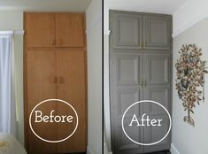 Refinish built-in cabinets