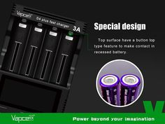 4 Bay USB Multi Bay Charging port with FREE 18650 Batteries Telsa