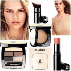 У линейки Chanel #lesbeiges теперь новое лицо Anna Ewers, сменившая наконец Жизель Бюндхен, и три новых продукта: пятерка теней в гамме нюд, выдвижная кисть и, самое интригующее, кушон с освежающей текстурой на основе воды Healthy Glow Gel Touch Foundation. #chanelsummer2017 #chanelbeauty #chanelmakeup