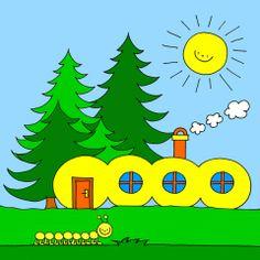 Bogyó és Babóca, a Százlábú háza Cartoon Ideas, Bart Simpson, Baby Room, Room Ideas, Felt, How To Make, House, Felting, Home