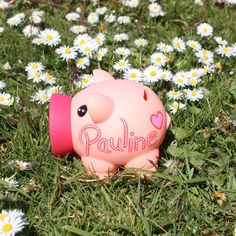 Pink Personalised Piggy Bank Bespoke Money Box for Savings / Hand Illustrated Fun Artisan Gift for Her / Him / Kids / Newborn by eBuyGB on Etsy https://www.etsy.com/uk/listing/527394181/pink-personalised-piggy-bank-bespoke