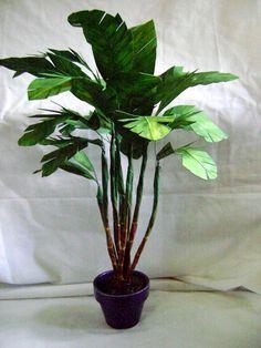 "17"" Large leaf banana palm plant tree 1/6 scale dollhouse miniature decor garden"