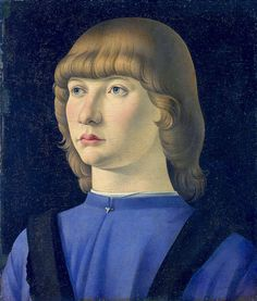 Jacometto Veneziano ~ (Italian, active Venice by ca. 1472–died before 1498) Portrait of a young man [1490-95]  
