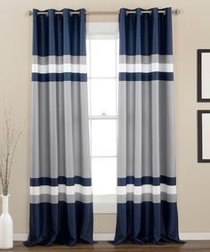 Look what I found on #zulily! Navy Xavier Curtain Panel - Set of Two #zulilyfinds