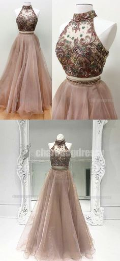 Two Pieces Sparkly Stunning Gorgeous Elegant Fashion Modest Popular Prom Dresses, PD0469