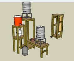Post with 11456 views. Collapsible Brew Stand Made from and Plywood. (Sketchup File in Comments) Beer Brewing Kits, Brewing Recipes, Beer Recipes, Homebrew Recipes, Make Beer At Home, How To Make Beer, Brew Stand, All Grain Brewing, Brewery Design