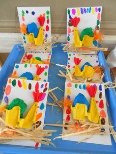 tavuk sanat etkinliği (50) - Okul Öncesi Etkinlik Faaliyetleri - Madamteacher.com