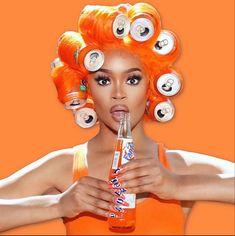 Glam Photoshoot, Photoshoot Concept, Photoshoot Themes, Photoshoot Inspiration, Orange Aesthetic, Black Girl Aesthetic, Body Shop At Home, The Body Shop, Portrait Photography Poses