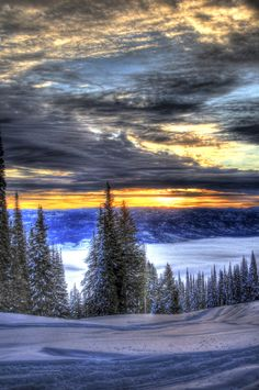 Sunrise from West Mountain, Donnelly, Idaho, by David Ryan