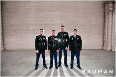Classy Military Groomsmen.   The Prado at Balboa Park Wedding, Photography by Bauman Photographers  View More: http://baumanphotographers.com/blog/weddings/2015/02/the-prado-at-balboa-park-wedding-san-diego-ca/