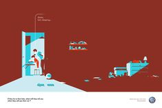 Volkswagen illustrated campaign on Behance