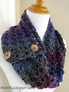 Free Crochet Pattern...Estelle Button Cowl!