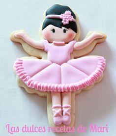 Ballerina Cookies for a ballerina party Cookies For Kids, Fancy Cookies, Sweet Cookies, Iced Cookies, Cute Cookies, Cupcake Cookies, Sugar Cookies, Ballerina Cookies, Ballerina Party