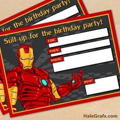 Iron Man: Mini Kit para Imprimir Gratis.